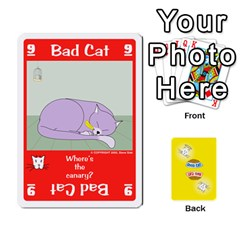 2010 Good Cat Bad Cat By Steve Sisk   Playing Cards 54 Designs   Mzvfcos5nr6j   Www Artscow Com Front - Heart7