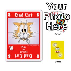 2010 Good Cat Bad Cat By Steve Sisk   Playing Cards 54 Designs   Mzvfcos5nr6j   Www Artscow Com Front - Heart8