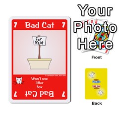 2010 Good Cat Bad Cat By Steve Sisk   Playing Cards 54 Designs   Mzvfcos5nr6j   Www Artscow Com Front - Heart9