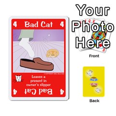 2010 Good Cat Bad Cat By Steve Sisk   Playing Cards 54 Designs   Mzvfcos5nr6j   Www Artscow Com Front - Diamond6