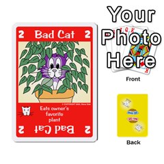 2010 Good Cat Bad Cat By Steve Sisk   Playing Cards 54 Designs   Mzvfcos5nr6j   Www Artscow Com Front - Diamond10