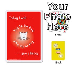 2010 Good Cat Bad Cat By Steve Sisk   Playing Cards 54 Designs   Mzvfcos5nr6j   Www Artscow Com Front - Joker1
