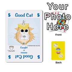 2010 Good Cat Bad Cat By Steve Sisk   Playing Cards 54 Designs   Mzvfcos5nr6j   Www Artscow Com Front - Spade9
