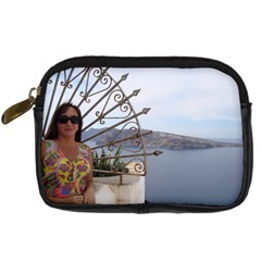 Greek Isles Camera Case By Kimswhims   Digital Camera Leather Case   Wh0gjz5a4bp0   Www Artscow Com Front