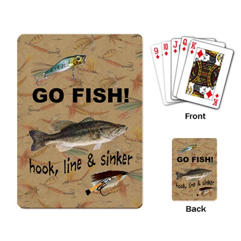 Go Fish Cards By Laurrie   Playing Cards Single Design   Qj6l4p2cfhde   Www Artscow Com Back