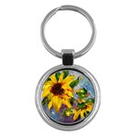 Single Sunflower - Key Chain (Round)