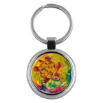Turtle Descending - Key Chain (Round)