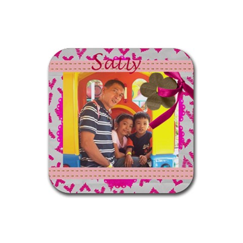 Sally By Lot Talavera   Rubber Coaster (square)   Zjooj83txtrd   Www Artscow Com Front