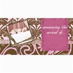 baby girl announcement - 4  x 8  Photo Cards
