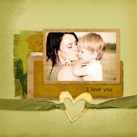 I Love You! By Diann 12 x12  Scrapbook Page - 1