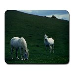 Two White Horses 0002 Large Mousepad