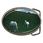 Two White Horses 0002 Belt Buckle
