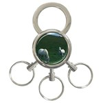 Two White Horses 0002 3-Ring Key Chain