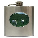 Two White Horses 0002 Hip Flask (6 oz)