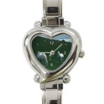 Two White Horses 0002 Heart Italian Charm Watch