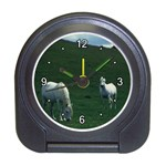 Two White Horses 0002 Travel Alarm Clock
