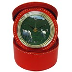 Two White Horses 0002 Jewelry Case Clock