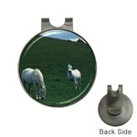 Two White Horses 0002 Golf Ball Marker Hat Clip