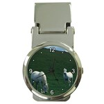 Two White Horses 0002 Money Clip Watch