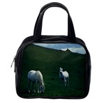 Two White Horses 0002 Classic Handbag (One Side)