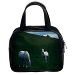 Two White Horses 0002 Classic Handbag (Two Sides)