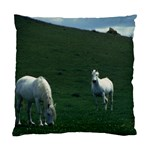 Two White Horses 0002 Cushion Case (Two Sides)