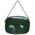 Two White Horses 0002 Chain Purse (Two Sides)