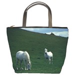 Two White Horses 0002 Bucket Bag