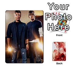 Supernatural Trading Cards By Mark C Petzold   Playing Cards 54 Designs (rectangle)   0b31kx86zcls   Www Artscow Com Front - Spade2