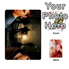 Supernatural Trading Cards By Mark C Petzold   Playing Cards 54 Designs (rectangle)   0b31kx86zcls   Www Artscow Com Front - Spade3