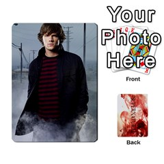 Supernatural Trading Cards By Mark C Petzold   Playing Cards 54 Designs (rectangle)   0b31kx86zcls   Www Artscow Com Front - Heart5