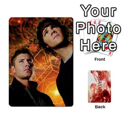 Supernatural Trading Cards By Mark C Petzold   Playing Cards 54 Designs (rectangle)   0b31kx86zcls   Www Artscow Com Front - Heart9