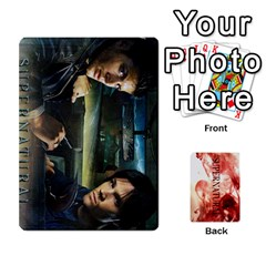 Supernatural Trading Cards By Mark C Petzold   Playing Cards 54 Designs (rectangle)   0b31kx86zcls   Www Artscow Com Front - Spade6