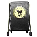 Jennyfoal Pen Holder Desk Clock