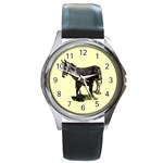 Jennyfoal Round Metal Watch