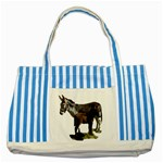 Jennyfoal Striped Blue Tote Bag