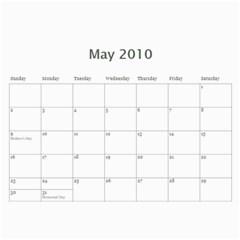 Calendar By Laurrie   Wall Calendar 11  X 8 5  (12 Months)   7sh292oktqs6   Www Artscow Com May 2010