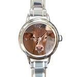 Brown Cow  0003 Round Italian Charm Watch