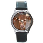 Brown Cow  0003 Round Metal Watch