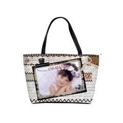 Follow Your Dreams Shoulder Bag By Catvinnat   Classic Shoulder Handbag   Ws5np36tq6mw   Www Artscow Com Front