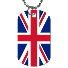 United Kingdom Flag Dog Tag (Two Sides) from CowCow.com Front