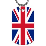 United Kingdom Flag Dog Tag (Two Sides) from CowCow.com Back