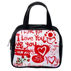 Valentine Bag By Wood Johnson   Classic Handbag (two Sides)   4lrndup7rgdf   Www Artscow Com Back