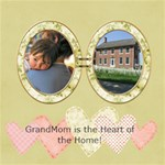 GrandMom  Heart of the Home - ScrapBook Page 8  x 8