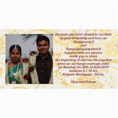 Vijay Ramya Wedding By Raji   4  X 8  Photo Cards   Nv4cf5dtirwq   Www Artscow Com 8 x4 Photo Card - 8