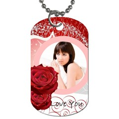 Love Tag By Wood Johnson   Dog Tag (two Sides)   47ko3loaeimm   Www Artscow Com Front