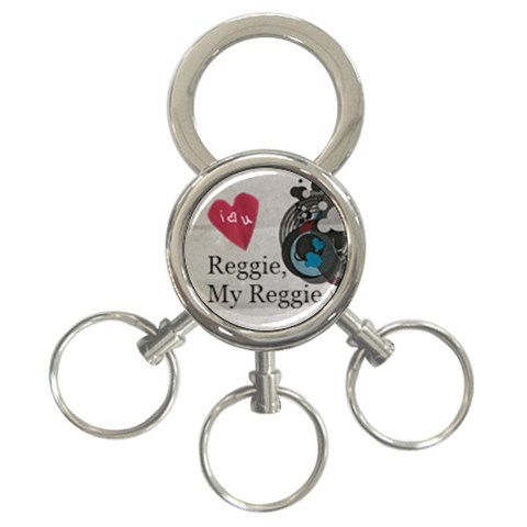 Reggie By Tamara Shoulders   3 Ring Key Chain   Pxbj2jvw9j9k   Www Artscow Com Front