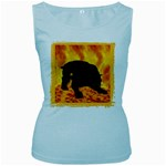 Hellhound Women s Baby Blue Tank Top