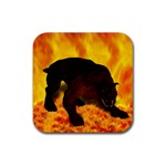Hellhound Rubber Square Coaster (4 pack)