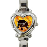 Hellhound Heart Italian Charm Watch